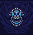 new blue shadow assassin mascot vector image vector image