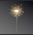 new year sparkler isolated on transparent backgrou vector image vector image