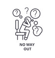 no way out thin line icon sign symbol vector image