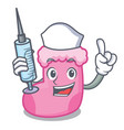 nurse sock character cartoon style vector image