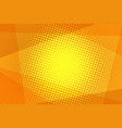orange halftone background vector image vector image