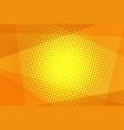 orange halftone background vector image
