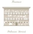 Palazzo Strozzi vector image