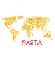 pasta italian macaroni world poster vector image vector image