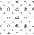 pollution icons pattern seamless white background vector image vector image