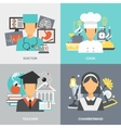 Profession Flat Set vector image vector image