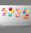 realistic bright round candies set vector image