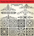 Retro design elements vector | Price: 1 Credit (USD $1)