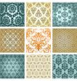 retro wallpaper set vector image vector image