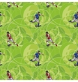 Seamless pattern with soccer players vector image vector image