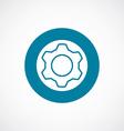 settings icon bold blue circle border vector image