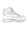 Sketch of a male shoe on white background