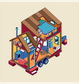 small tiny house modern mobile trailers vector image vector image