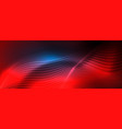 smooth wave lines on blue neon color light vector image vector image