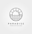 sun wave logo symbol design vector image vector image