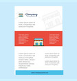 template layout for market comany profile annual vector image vector image