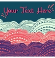 Three Waves Horizontal Pink vector image vector image