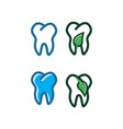tooth logo design template vector image