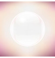 Transparent Sphere And Pastel Background vector image vector image
