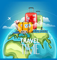 travel time concept different types of travelling vector image vector image