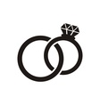 Wedding rings icon vector image vector image