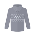 Sweater or Jumper with Fir Tree Icons Isolated vector image