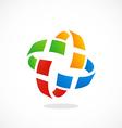 orbit pixel colorful circle logo vector image