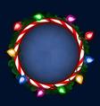 Christmas frame vector image