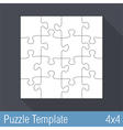 Jigsaw Puzzle Template vector image