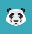 panda happy emoji chinese bear merry emotion vector image