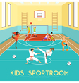 Poster Of Kids Sportroom vector image