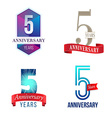 5 Years Anniversary Symbol vector image vector image