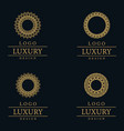 amazing luxury logo designs vector image