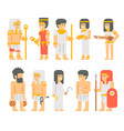 ancient egyptian people set cartoon design vector image vector image