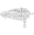 art in london text word cloud concept vector image vector image