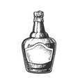 blown scotch whisky bottle with foil cap vector image