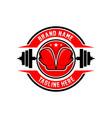 boxing sports logo vector image