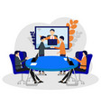 business team at video conference call in boar vector image vector image
