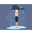 Business Woman in depression vector image