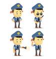 cartoon policemen vector image vector image