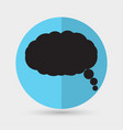 cloud speech icon vector image vector image