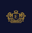 coat of arms letter e company vector image vector image