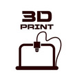 cogwheel 3d printing solid icon 3d printing vector image