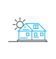 country cottage area linear icon concept country vector image