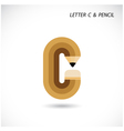 Creative letter C icon abstract logo design vector image vector image