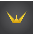 Crown king w letter logo vector image