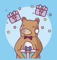 cute animal bear cartoon vector image