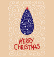 cute christmas cards with a picture a christmas vector image vector image