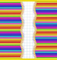 double frame made of vertical rows colored wooden vector image vector image
