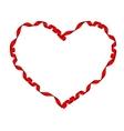 Elegant Red satin gift Ribbon EPS 10 vector image vector image